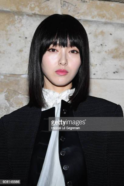 Tang Yan attends the Louis Vuitton show as part of the Paris Fashion Week Womenswear Fall/Winter 2018/2019 on March 6 2018 in Paris France