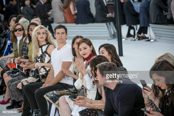 Tang Yan center and celebrities attend the Louis Vuitton Resort 2018 show at the Miho Museum on May 14 2017 in Koka Japan