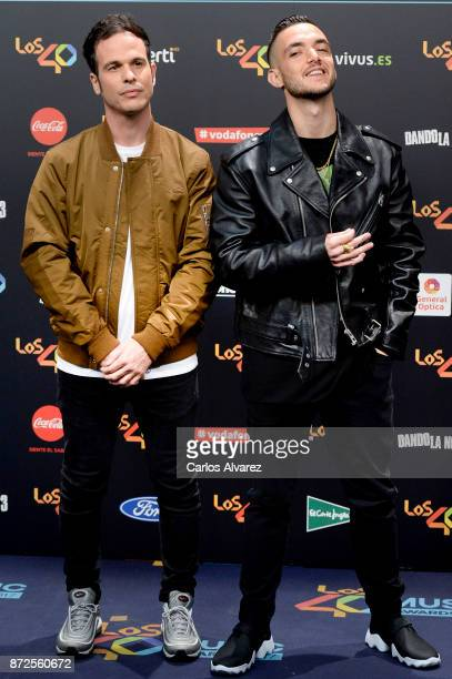 C Tangana attends 'Los 40 Music Awards' photocall at WiZink Center on November 10 2017 in Madrid Spain