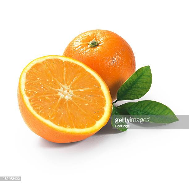 tangerine duo with leafs - orange colour stock pictures, royalty-free photos & images