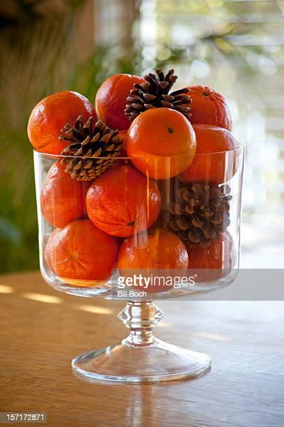 Tangerine holiday centerpiece