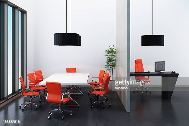 Tangerine Tango Office Room