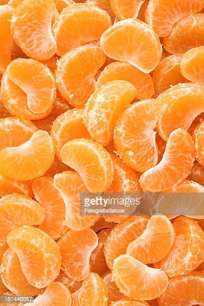 Mandarine wedges Hintergrund