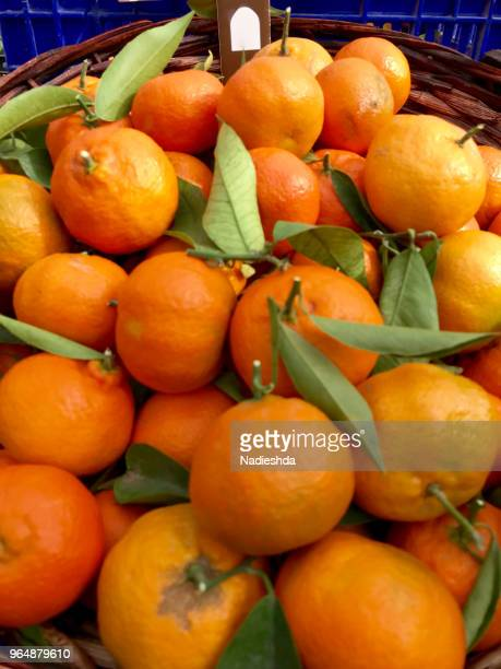 Tangerines at a local market