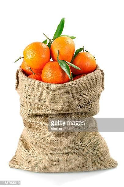 Tangerines Fruits in Sack
