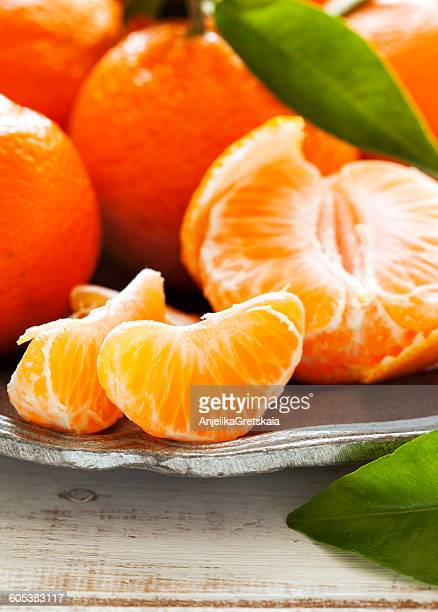 Tangerines on a plate