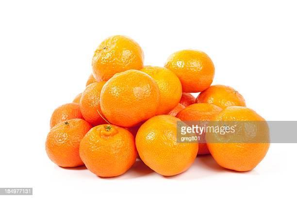 Mandarinen auf weißem Hintergrund XXXL