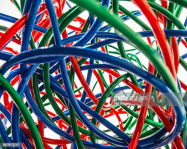 Tangle of Colorful Tubing