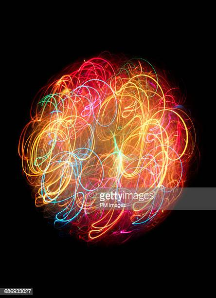 Tangle of multi colored lights