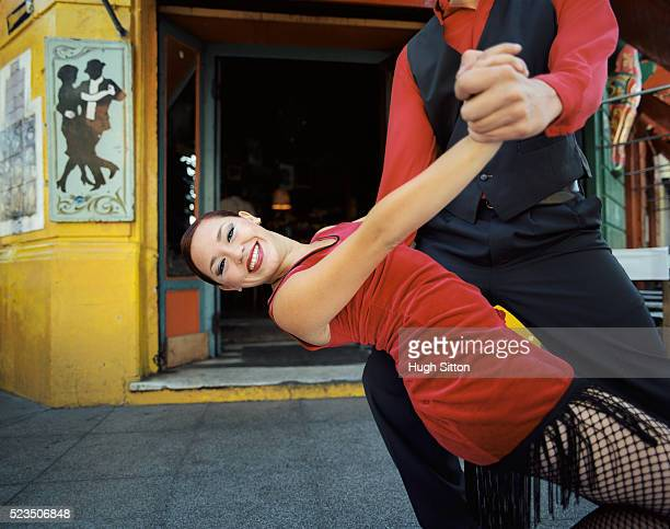 tango dancers, la boca, buenos aires, argentina - argentina traditional clothing stock photos and pictures