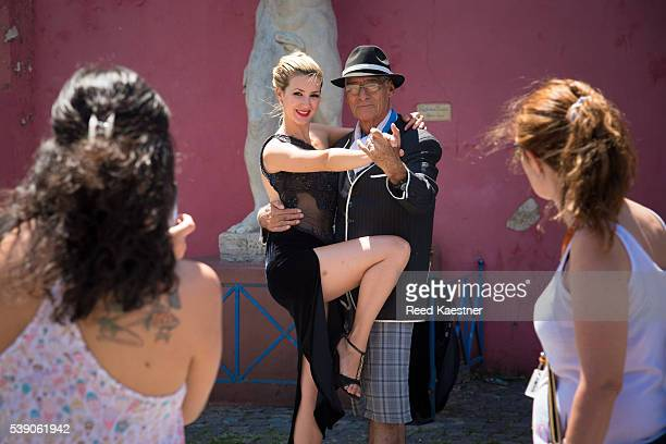 Tango dancing on the streets of Buenos Aires.