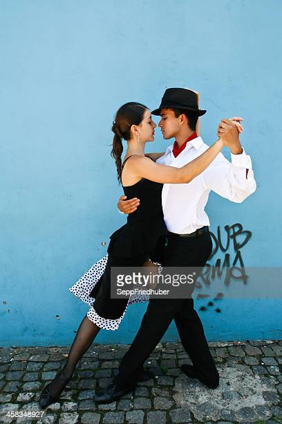 Tango demonstration in the streets of La Boca Buenos Aires