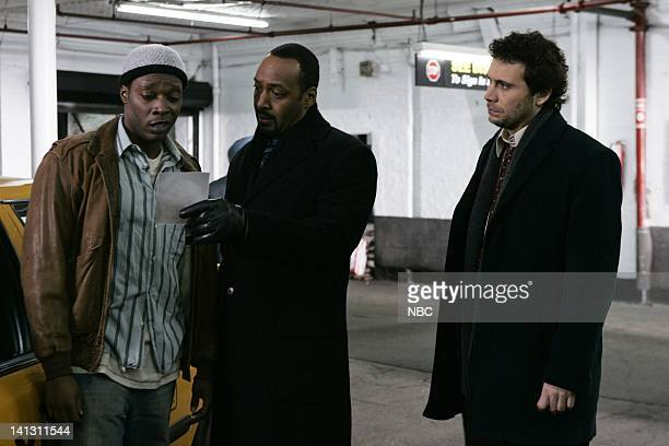 LAW ORDER 'Tango' Episode 1813 Pictured Alan Mingo Jr as Reggie Jesse L Martin as Detective Ed Green Jeremy Sisto as Detective Cyrus Lupo NBC Photo...