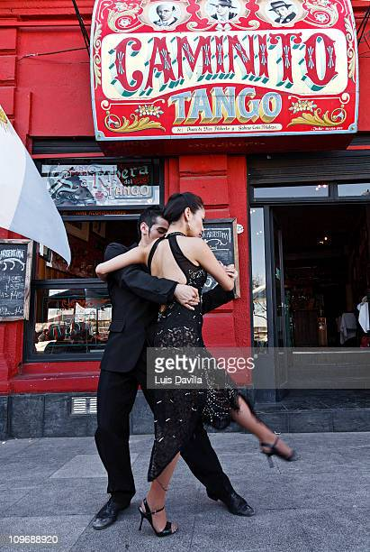 Tango in Caminito Street in Buenos Aires December 2010