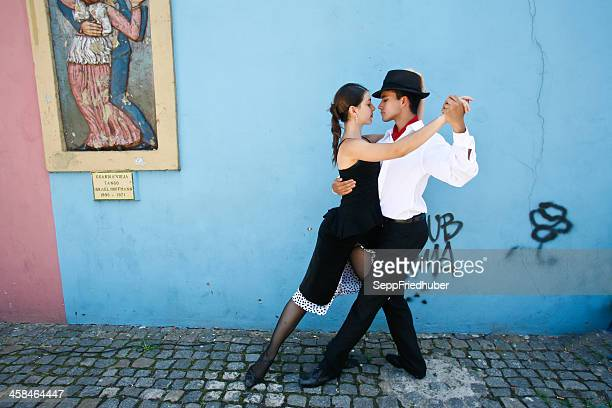 tango in la boca, buenos aires, argentina - argentina stock pictures, royalty-free photos & images