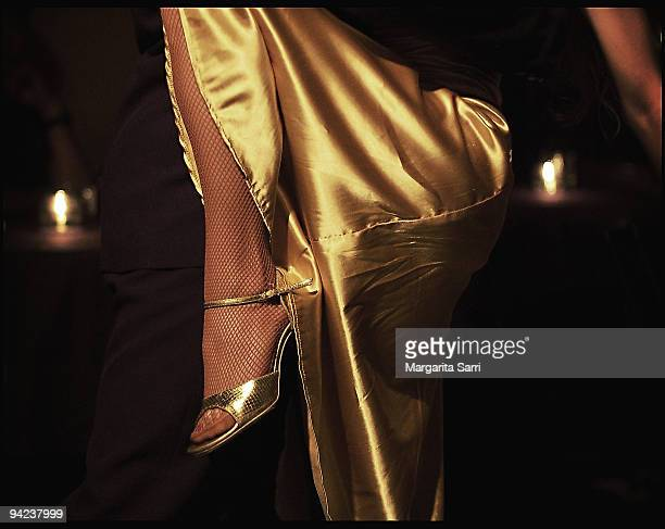 tango legs - gold dress stock pictures, royalty-free photos & images
