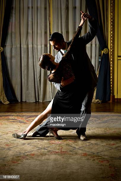 tango - man bending over from behind stock photos and pictures
