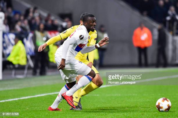 Tanguy Ndombele Alvaro and Lucas Tousart of Lyon during the Europa League match between Lyon and Villarreal at Groupama Stadium on February 15 2018...