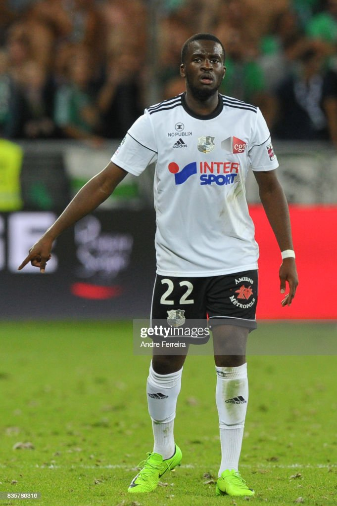 Tanguy Ndombele Alvaro of Amiens during the Ligue 1 match between AS Saint Etienne and Amiens SC at Stade Geoffroy Guichard on August 19, 2017 in Saint Etienne, France.