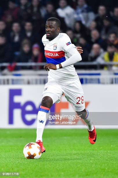 Tanguy Ndombele Alvaro of Lyon during the Europa League match between Lyon and Villarreal at Groupama Stadium on February 15 2018 in Lyon France