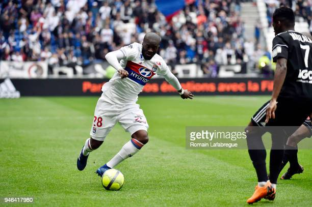 Tanguy Ndombele Alvaro of Lyon during the Ligue 1 match between Lyon and Amiens at Parc Olympique on April 14 2018 in Lyon