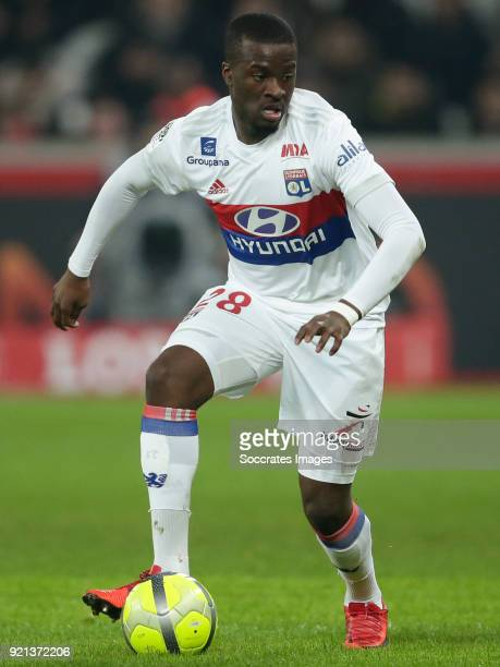 Tanguy Ndombele Alvaro of Olympique Lyon during the French League 1 match between Lille v Olympique Lyon at the Stade Pierre Mauroy on February 18...