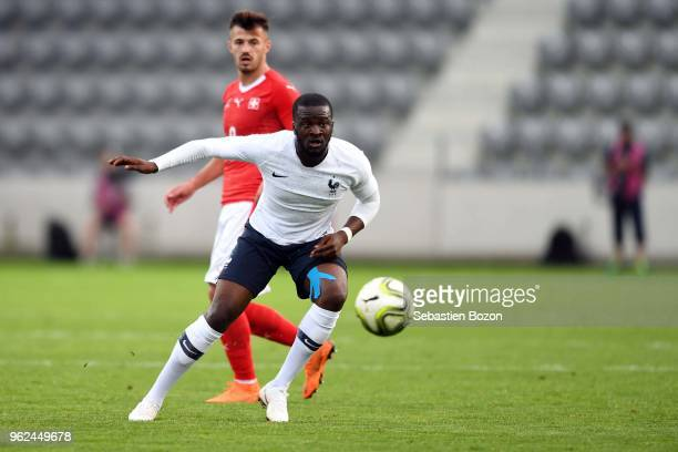 Tanguy Ndombele of France during the Friendly match between Switzerland and France on May 25 2018 in Biel Switzerland