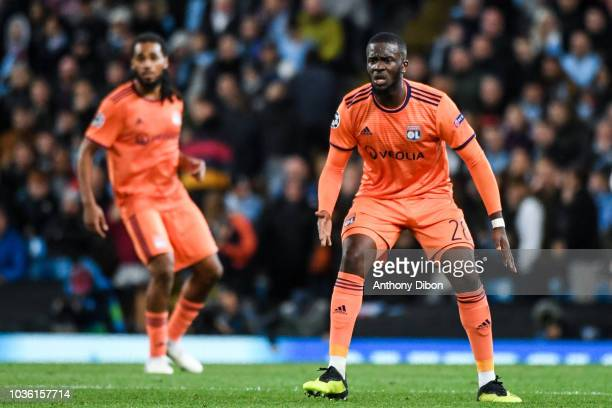 Tanguy Ndombele of Lyon during the Champions League match between Manchester City and Lyon at Etihad Stadium on September 19 2018 in Manchester...