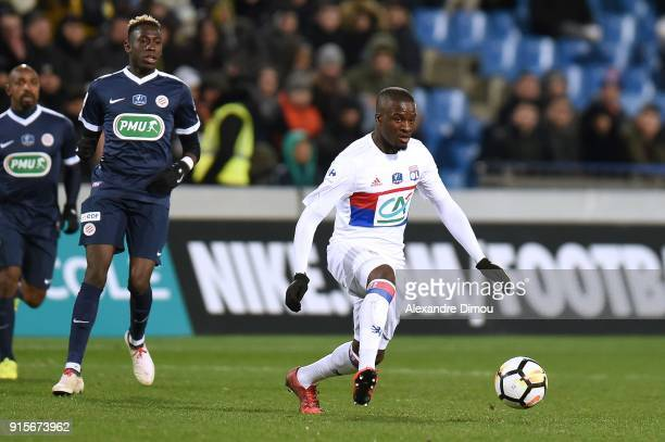 Tanguy Ndombele of Lyon during the French Cup match between Montpellier and Lyon at Stade de la Mosson on February 7 2018 in Montpellier France