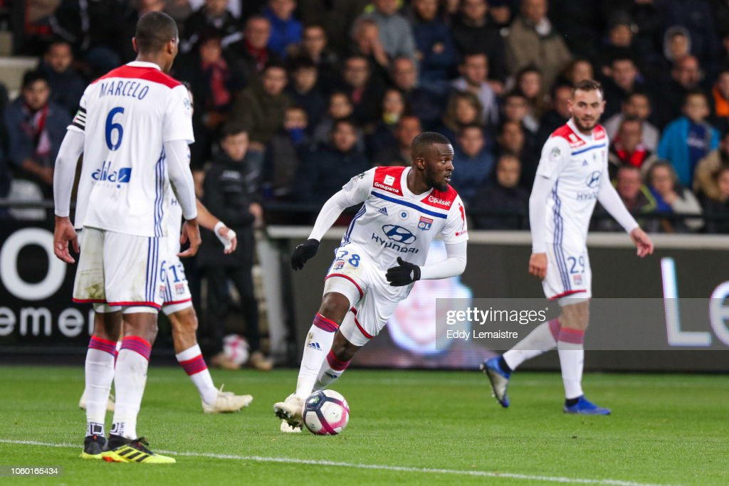 Tanguy Ndombele of Lyon during the Ligue 1 match between Guingamp ...