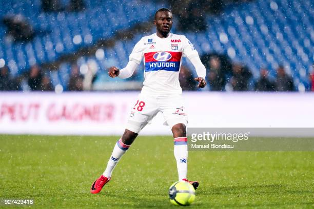 Tanguy Ndombele of Lyon during the Ligue 1 match between Montpellier Herault SC and Olympique Lyonnais at Stade de la Mosson on March 4 2018 in...