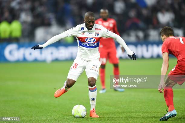 Tanguy Ndombele of Lyon during the Ligue 1 match between Olympique Lyonnais and Montpellier Herault SC at Parc Olympique on November 19 2017 in Lyon