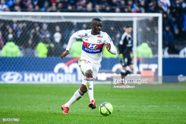 Tanguy Ndombele of Lyon during the Ligue 1 match between Olympique Lyonnais and AS SaintEtienne at Parc Olympique on February 25 2018 in Lyon