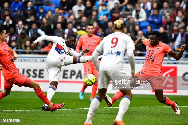 Tanguy Ndombele of Lyon during the Ligue 1 match between Olympique Lyonnais and SM Caen at Parc Olympique on March 11 2018 in Lyon