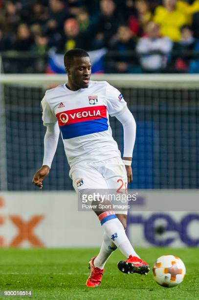 Tanguy NDombele of Olympique Lyon in action during the UEFA Europa League 201718 Round of 32 match between Villarreal CF and Olympique Lyon at...