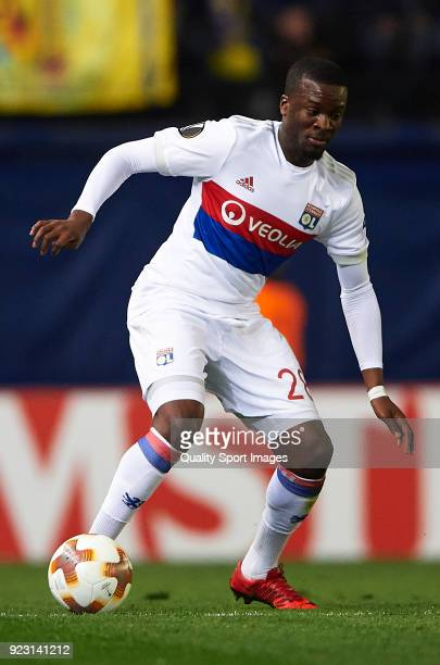 Tanguy Ndombele of Olympique Lyon in action during UEFA Europa League Round of 32 match between Villarreal and Olympique Lyon at the Estadio de la...