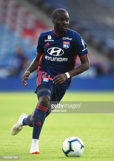 Tanguy Ndombele of Olympique Lyonnais in action during a preseason friendly match between Huddersfield Town and Olympique Lyonnais at John Smith's...
