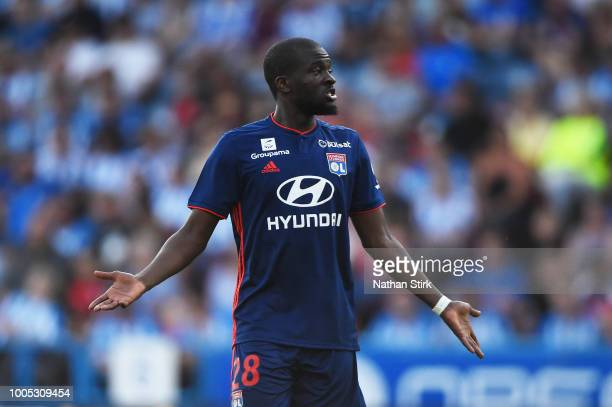 Tanguy Ndombele of Olympique Lyonnais looks on during a preseason friendly match between Huddersfield Town and Olympique Lyonnais at John Smith's...