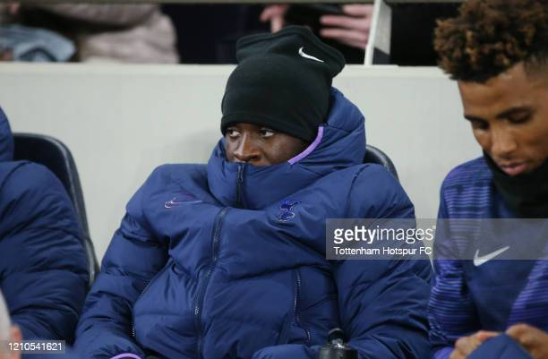 Tanguy Ndombele of Tottenham Hotspur on the bench during the FA Cup Fifth Round match between Tottenham Hotspur and Norwich City at Tottenham Hotspur...