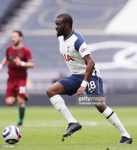 Tanguy Ndombele of Tottenham Hotspurduring the Premier League match between Tottenham Hotspur and Wolverhampton Wanderers at Tottenham Hotspur...