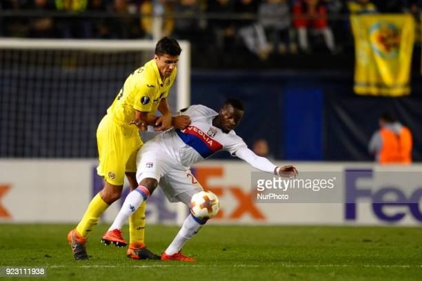 Tanguy Ndombele Rodrigo during the match between Villarreal CF against Olympique of Lyon Round of 32 2nd leg of UEFA Europa League at Ceramica...
