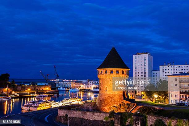 tanguy tower in brest - tower stock pictures, royalty-free photos & images