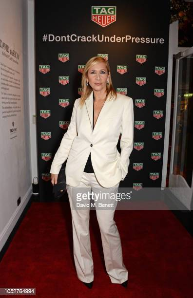 """Tania Bryer attends the TAG Heuer auction featuring unseen art work from the """"Don't Crack Under Pressure"""" Campaign in association with Cara..."""