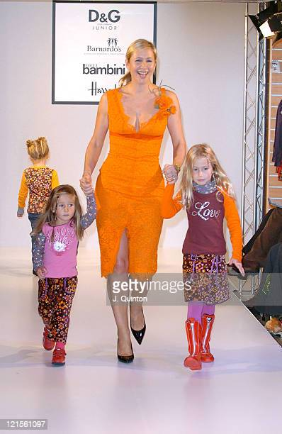Tania Bryer during DG Children's Fashion Show at Harrods in London Great Britain