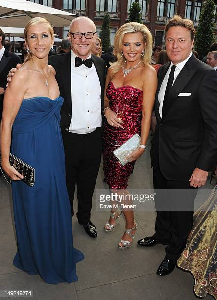 Tania Bryer John Caudwell Claire Johnson and Rod Barker attend the Sports For Peace Fundraising Ball at The VA on July 25 2012 in London England