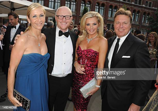 Tania Bryer John Caudwell Claire Johnson Rod Barker attends the Sports For Peace Fundraising Ball at The VA on July 25 2012 in London England