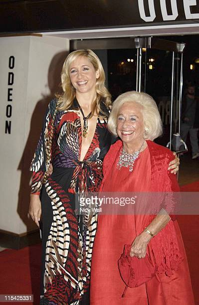 Tania Bryer withy her mother Joy during The BFI London Film Festival The Last King of Scotland Opening Gala Inside Arrivals at Odeon Leicester Square...