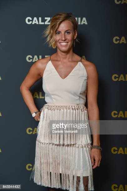 Tania Cagnotto attends Calzedonia Legs Show on September 6 2017 in Verona Italy