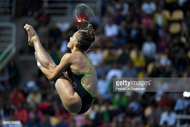 Tania Cagnotto of Italy competes in the Women's 3M Springboard semi final on Day 8 of the Rio 2016 Olympic Games at the Maria Lenk Aquatics Centre on...