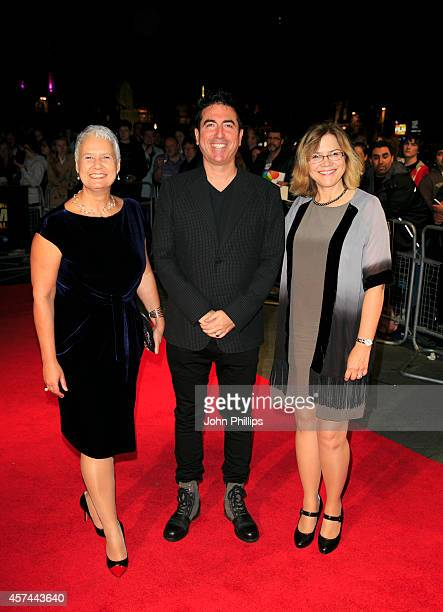Tania Chambers Laurence Malkin Share Stallings attend the red carpet arrivals of Kill Me Three Times during the 58th BFI London Film Festival at...